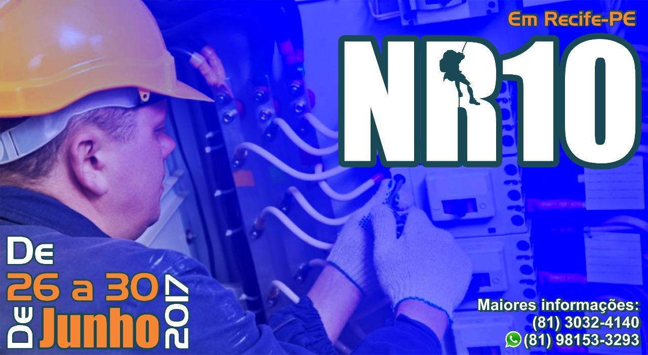 Treinamento NR10 em junho – Segurança em Instalações e Serviços em Eletricidade