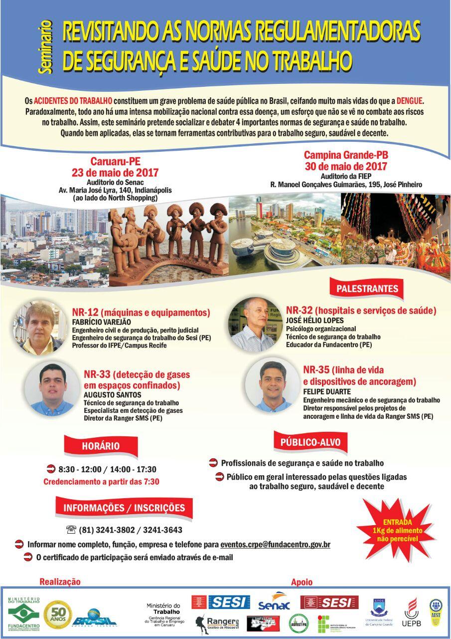 A Ranger SMS realiza junto a Fundacentro, eventos em Caruaru e Campina Grande