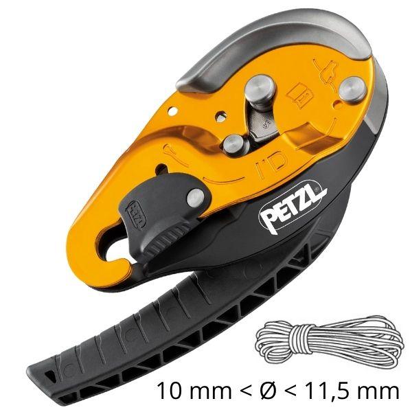 Com Função Anti-Pânico Petzl para corda de 10 a 11,5 mm