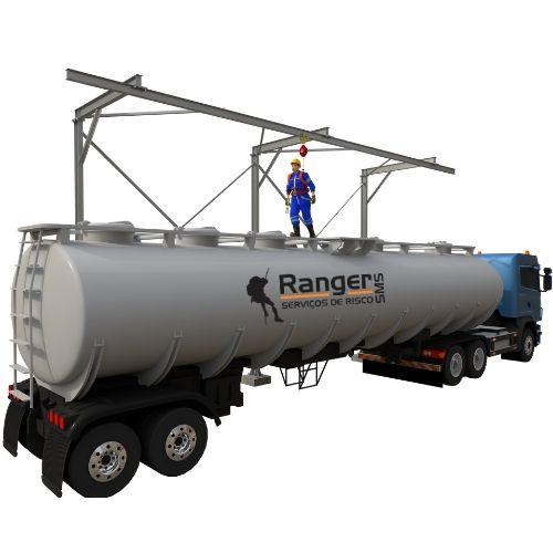 Pórtico Unilateral para enlonamento de caminhão.