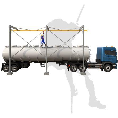 Trilho Rígido para trabalho sobre carroceria de caminhão
