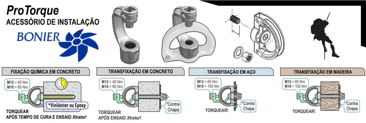 Como conferir o torque no ponto de ancoragem