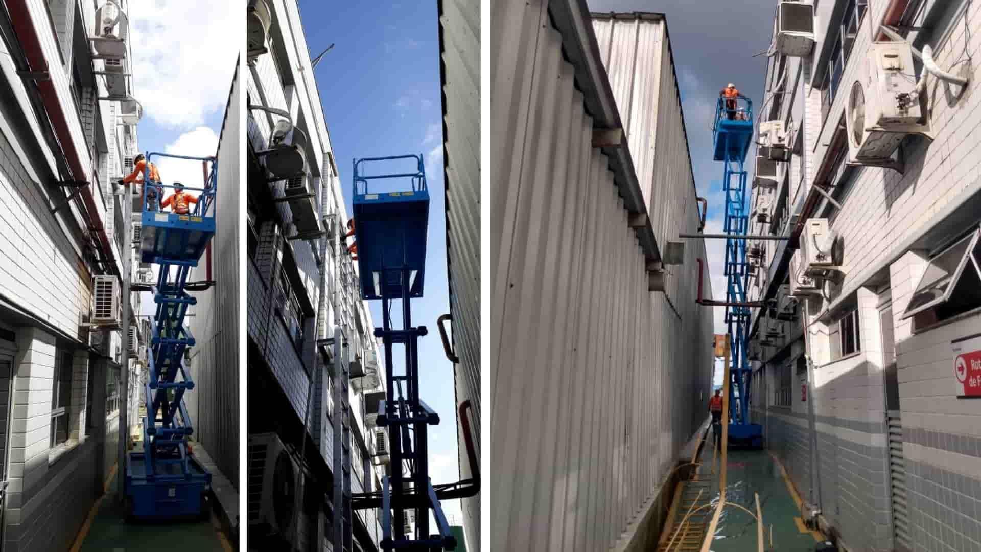 montagem de escada marinheiro
