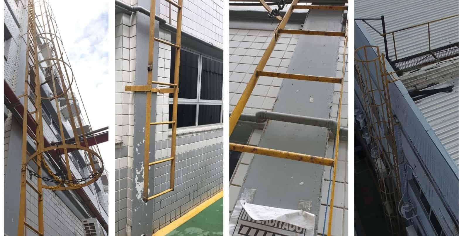 Escada fixa Vertical