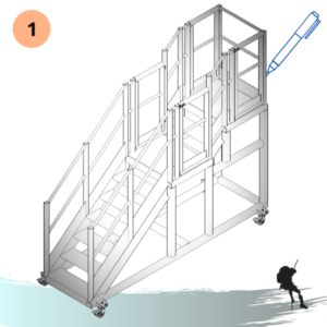 Escada Plataforma